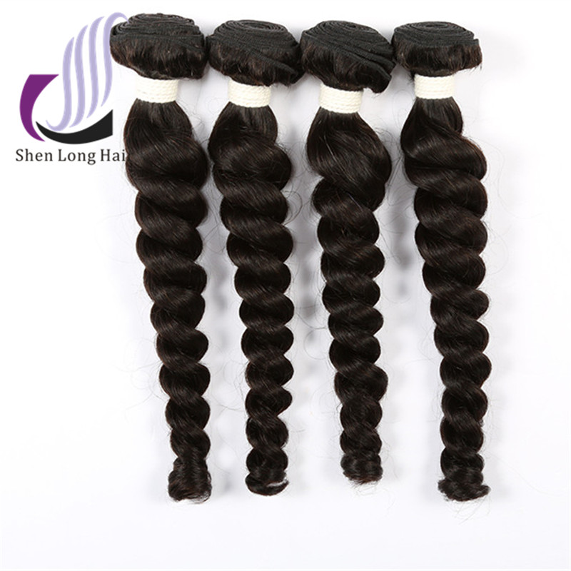 Shedding and Tangle Free Indian Human Hair Weaving French Curls