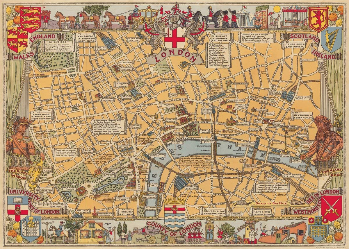Buy Cavallini & Co. Europe Map Decorative Decoupage Poster Wrapping ...