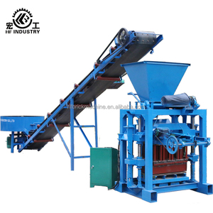 QT4-35 home business manual hollow/solid/paving/kerbstone/solid block machine price in india