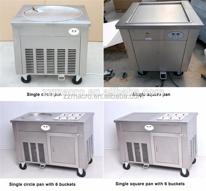 Commercial thailand rolled fried ice cream machine factory price