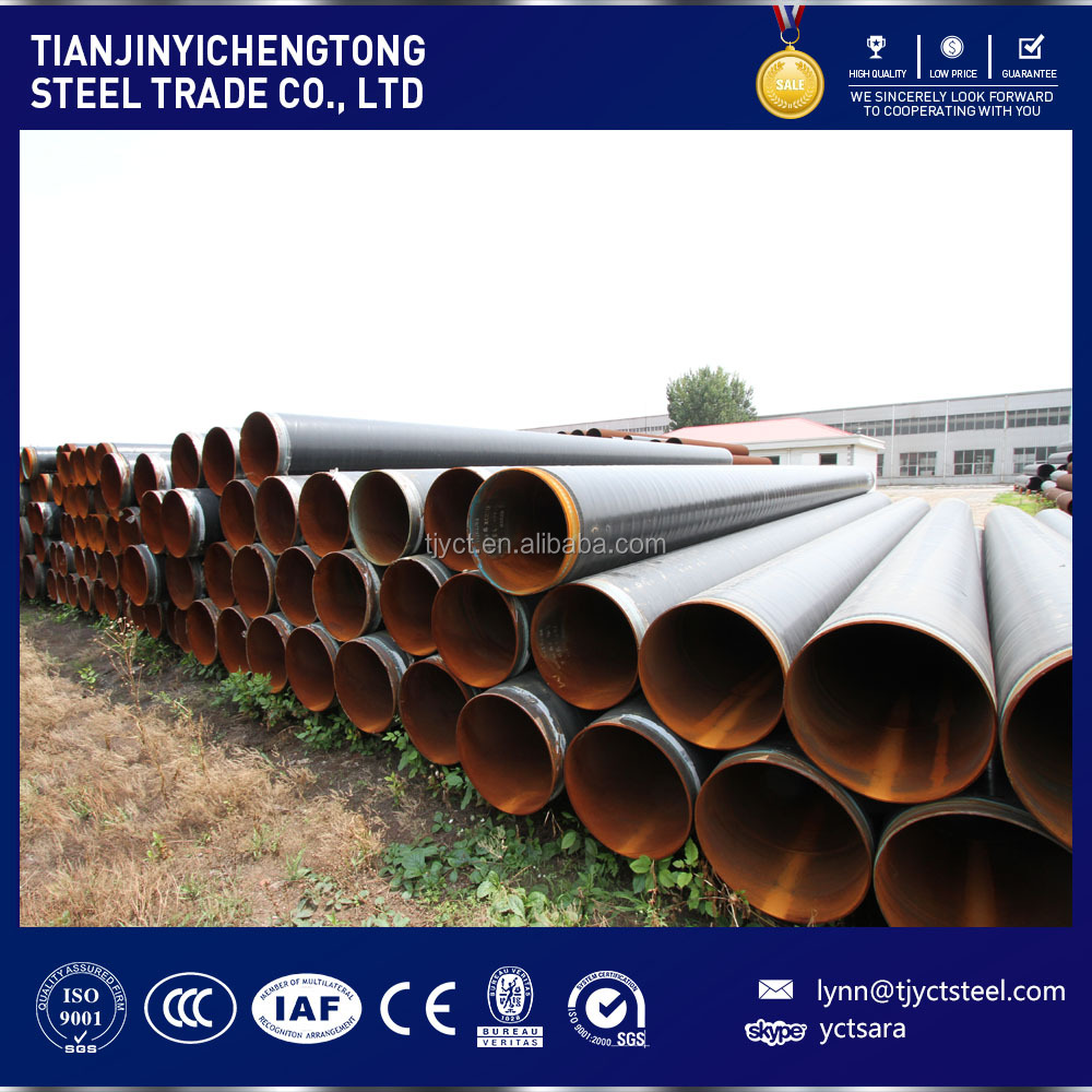 anti-corrosion erw welded Steel Pipe for Black Coating pipe/tube and 3PE