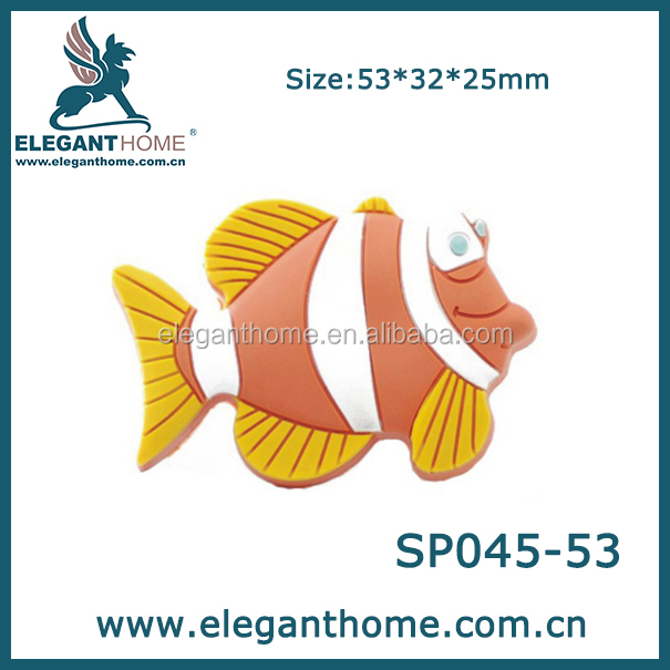 Small Fish design soft plastic drawer knob, Cabinet hardware Furniture handle and knob