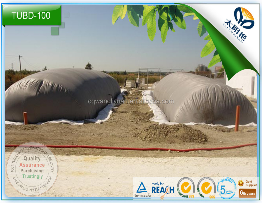 TUV/ISO14000 livestock farm low cost,food waste small biogas plant no need cement or conceret pond