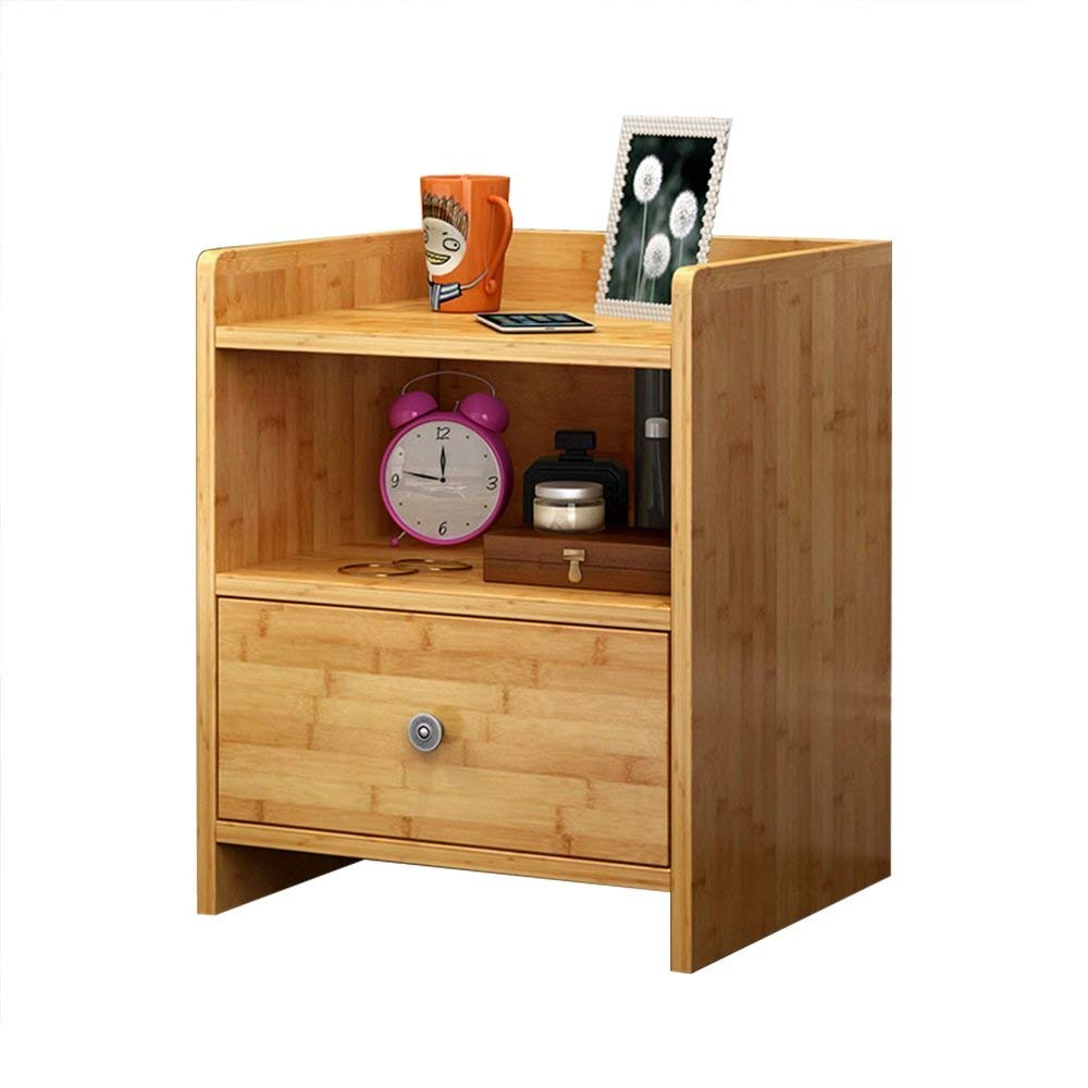 Emma Home Nightstand Bamboo Storage Cabinets Small Lockers Bedside Cabinets Bedroom Cabinets File Cabinet Bedside Cabinets (Color : A)