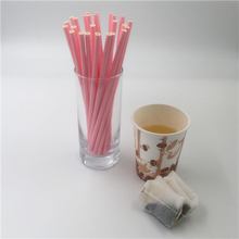 Eco-Friendly Biodegradable Party Supplies Paper Pure Color Straws 40601