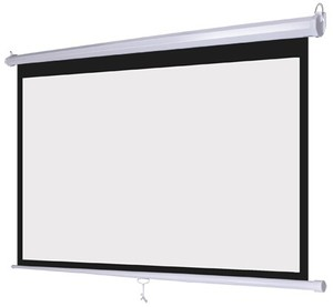 Good Quality Manual Pull Down Projection Screen with matte white fabric 100 inch Wall Mounted Projector Screen