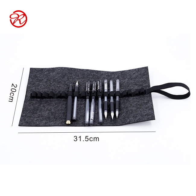 Fashion Roll up Felt Pencil Bag For Pen Holder