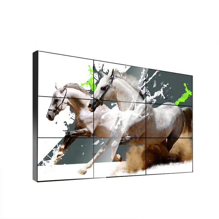 46 Inch 5.3mm Liền Mạch Tường Tv Bezel Nối LCD Hiển Thị Màn Hình Video