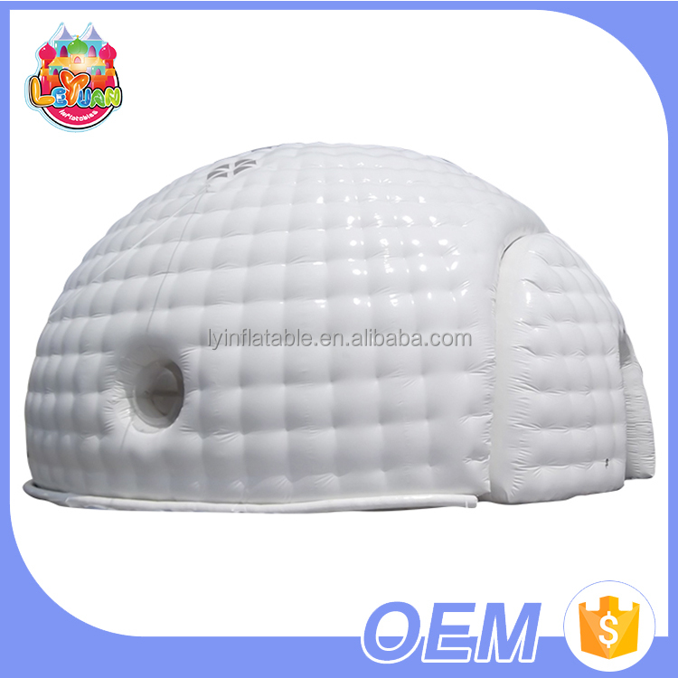 Hot Sale Large Quantity Free Logo Printing Commercial Pvc Air Dome Planetarium Inflatable Igloo Tent