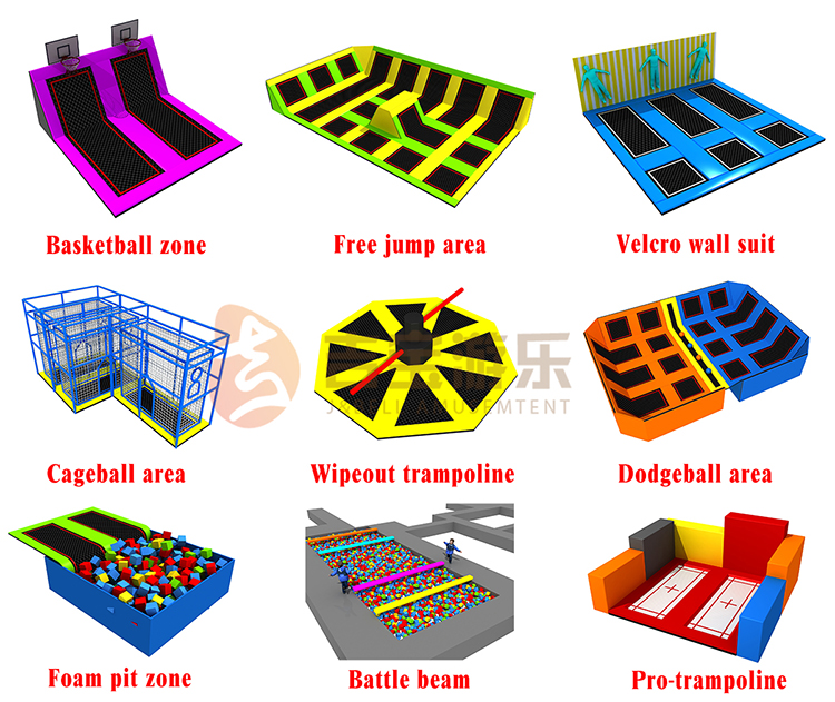 Multifunction Commercial Professional Rectangle Kids Jumping Trampoline , Big Bungee Trampoline Parks