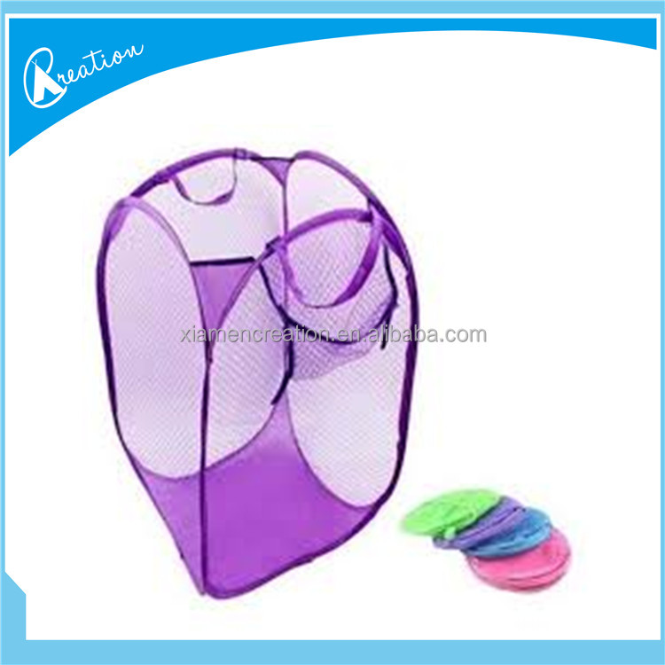 purple color pop up laundry hamper