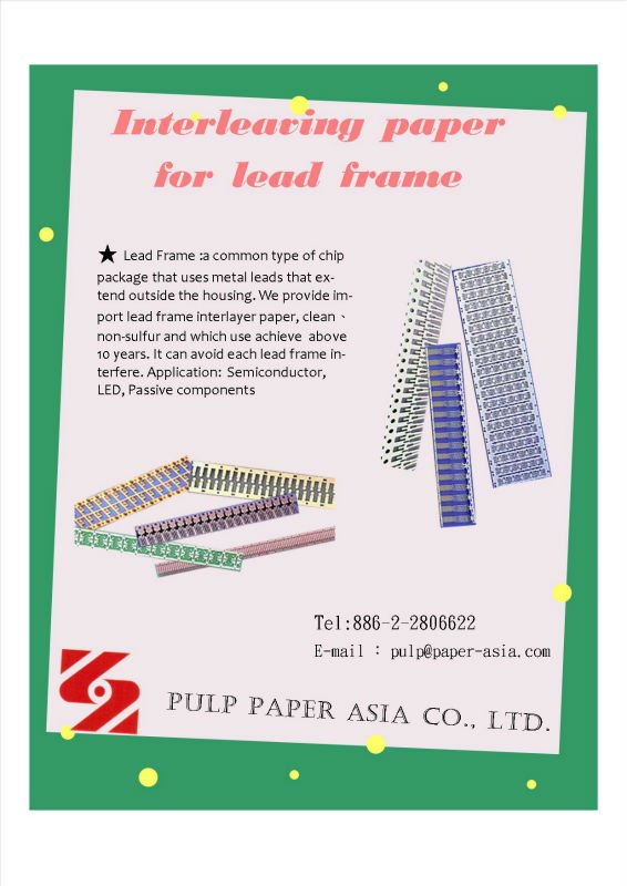 Interleaving Paper For Lead Frame - Buy Lead Frame Product on Alibaba.com