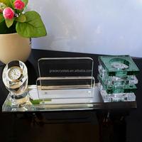 EOS-2011-13 High grade office desk top gifts crystal desk pen holder