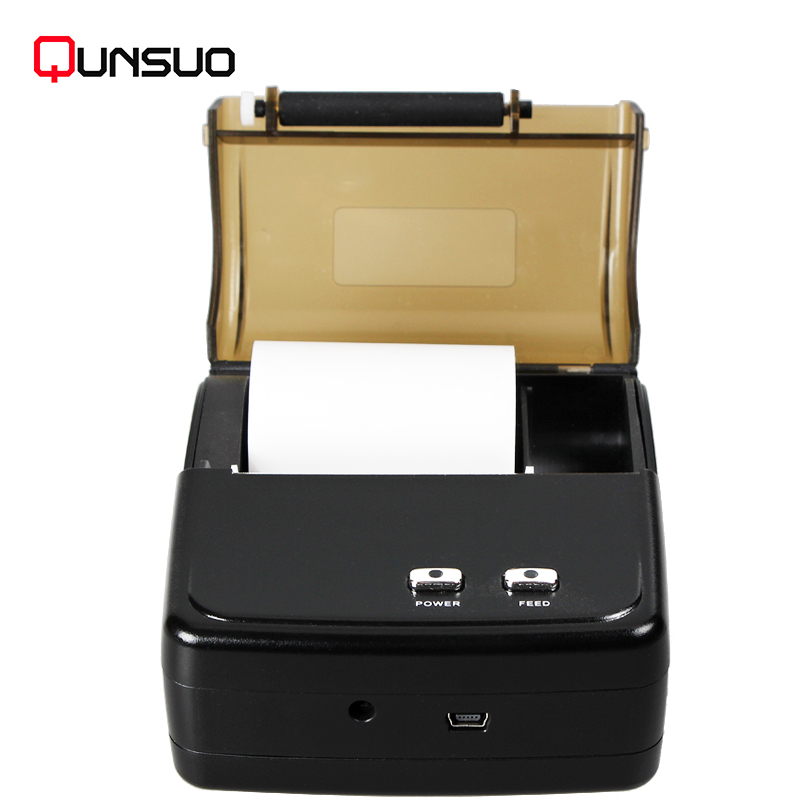 QS5801 mini portable bluetooth usb thermal ticket bill printer for Android phone laptop