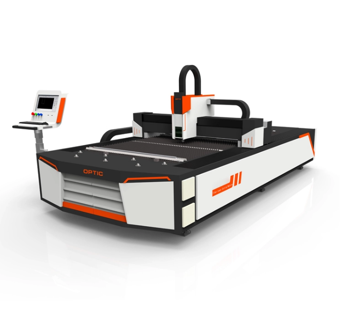 Mobiele gehard glas making machine 1000 W 1530 CNC fiber metalen laser cutter optic lasersnijmachine