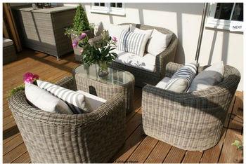 boston rattan garden furniture 4 seater rounded sofa set - Rattan Garden Furniture 4 Seater