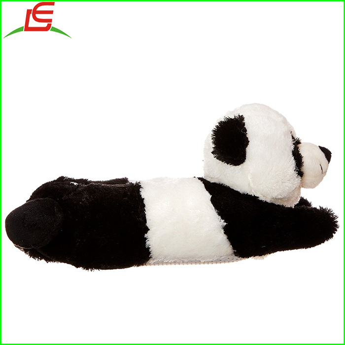 Adult Children Kid Size Panda Bear Animal Paw Plush Fuzzy Slippers