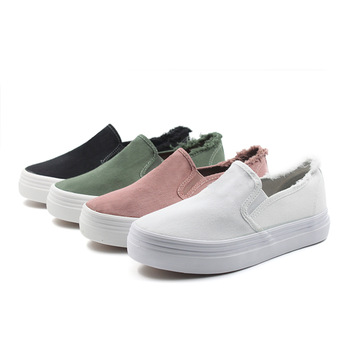 75aa4066f8b white canvas slip-on shoes wholesale