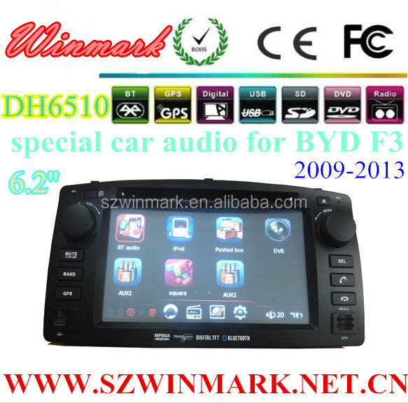 DH6510 Touch Screen Car DVD Player Build in GPS Navigation/Bluetooth/IPod/Radio for BYD F3