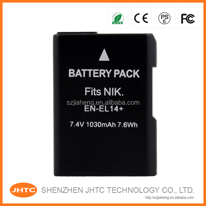 High capacity portable battery EN-EL14+ EN-EL14 for nikon slr d3100 price digital camera made in china