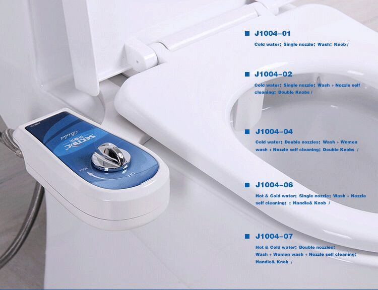 Toilet with built-in bidet portable bidet attached to toilet AMI470