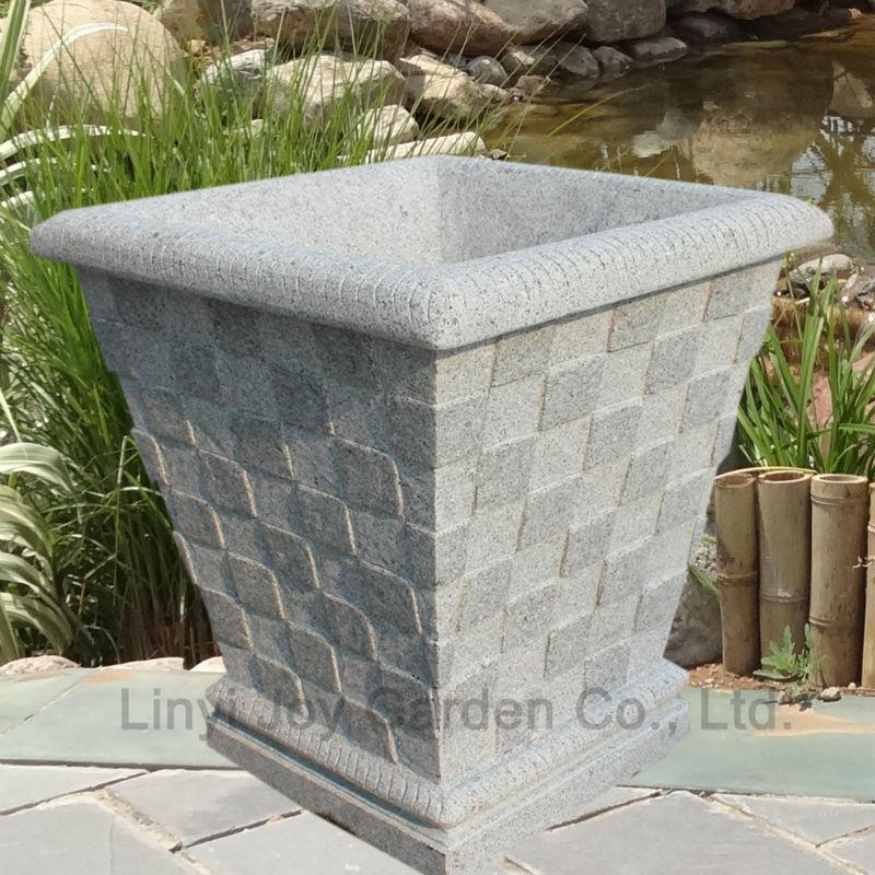 Big Plant Pots For Sale Part - 16: Hot Sale Outdoor Decorative Plant Pot Large Stone Garden Pot
