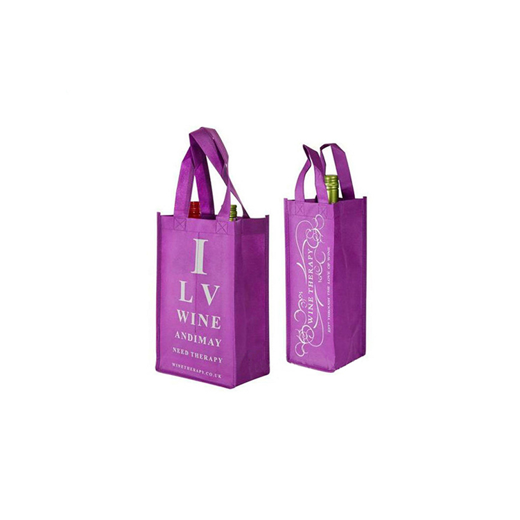 Wholesale Eco Friendly Heavy Duty Reusable Divided 4 Bottles 6 Bottles Carrier Non Woven Wine Tote Bag