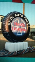 products advertising inflatable tire display for sale