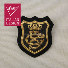 High quality 4*4.5cm fashion patch , custom embroidered patches for clothing