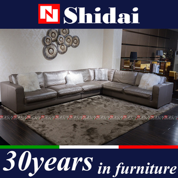 Silver Sofa Set, Silver Leather Sofa, Burma Teak Wood Sofa Sets 985