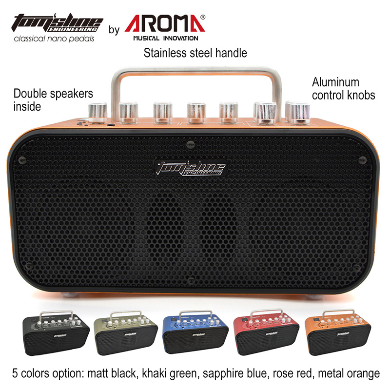 Mini 10W Double Speakers High Quality Amp for Electric Guitars Built-in 8 Preset Sound and 4 Effect Chorus