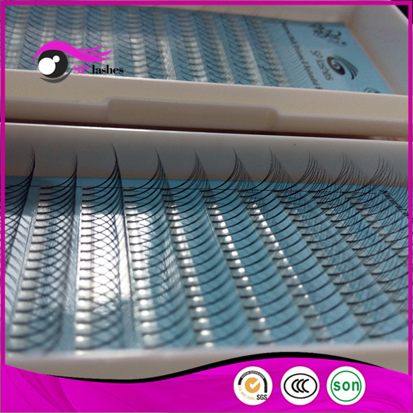 Wholesale Price 0.1mm D Curl False Eyelashes Synthetic Silk ...