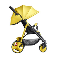 Factory Supply stroller baby twin 2 in 1 strollers price yellow