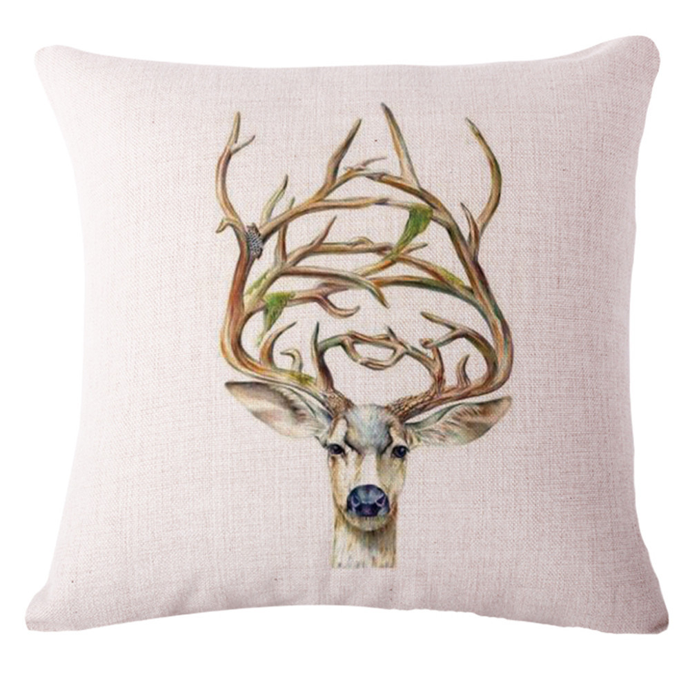 Buy Ikea Funda Cojines Animals Deer Cushion Cover Decorative Throw