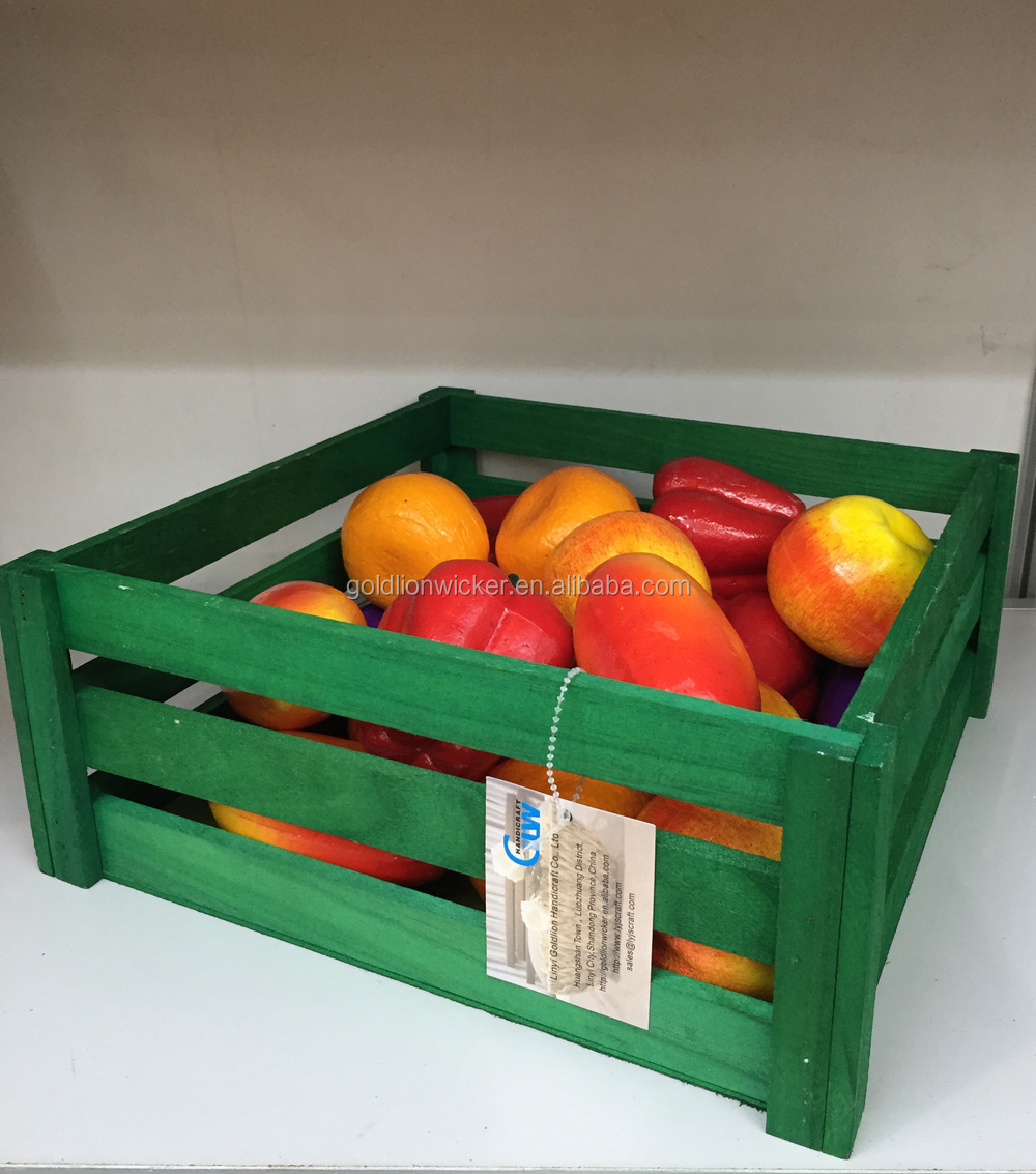 Fruit crate cheap wooden fruit crates for sale basket for Where can i buy wooden milk crates