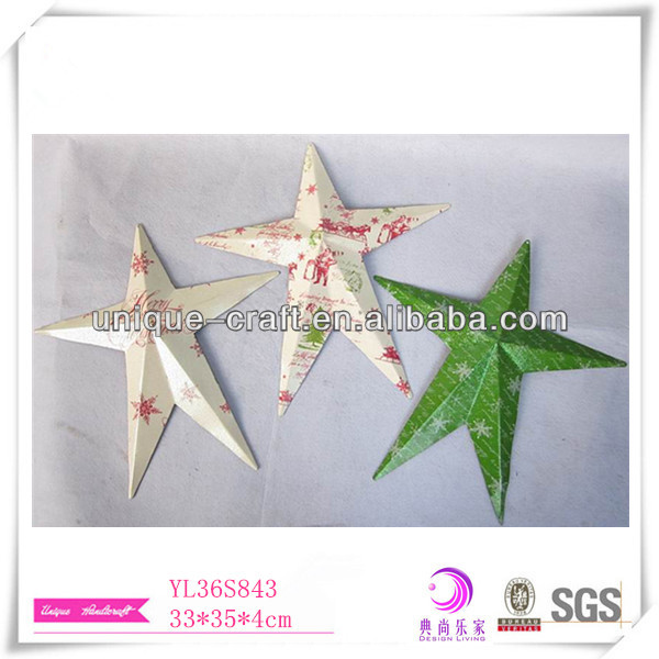 Wholesale Christmas decoration, christmas tree ornament, metal christmas star