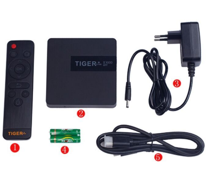 Tiger Satellietontvanger I3000 OTT Android TV Box Downloaden Hindi Video HD Liedjes