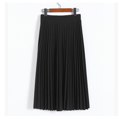 High density black pleated skirt