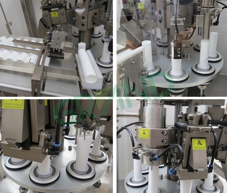Автоматическая пластиковая Мягкая трубка подачи и запайки Косметическая трубка заполнения запайки мешин для упаковки
