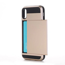 2017 hot selling new products smartphone accessories shield hybrid mobile phone case for iphone 8 with card slot