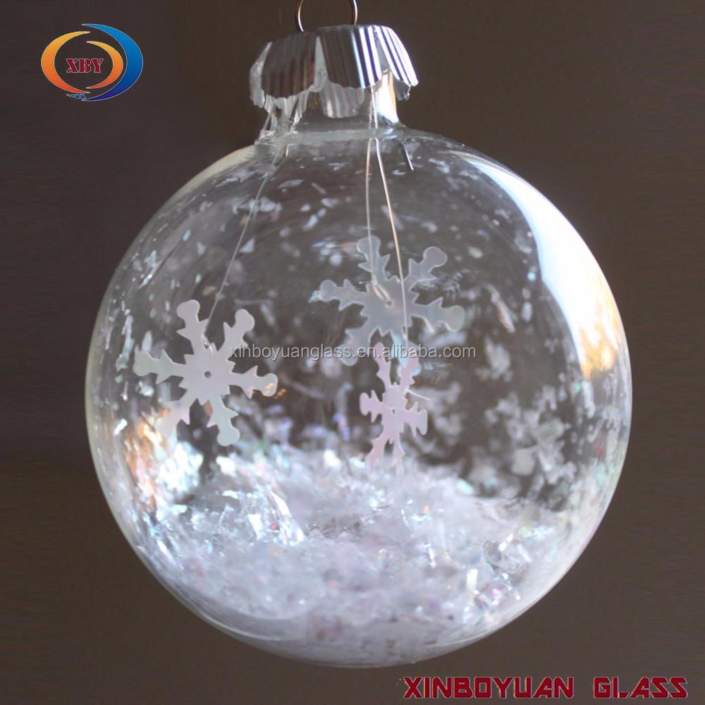 Navidad decoraci n hecho a mano de cristal de navidad bola - Bola nieve cristal ...