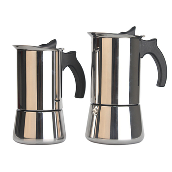 High Quality 2 4 6 10 Cup Stainless Steel Stovetop Moka Pot / Italian Coffee Maker