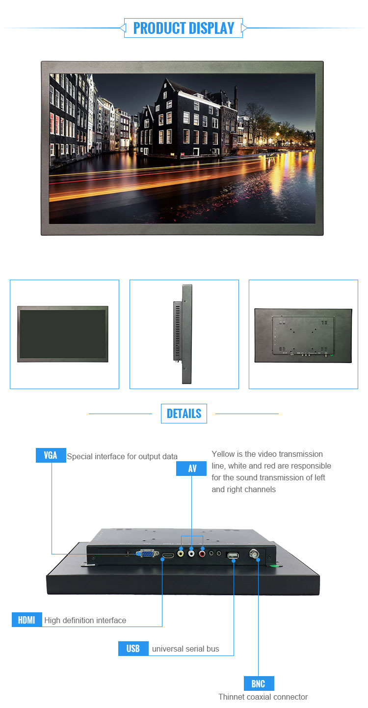 New products 17 inch 16:9 wide lcd monitor for DVD