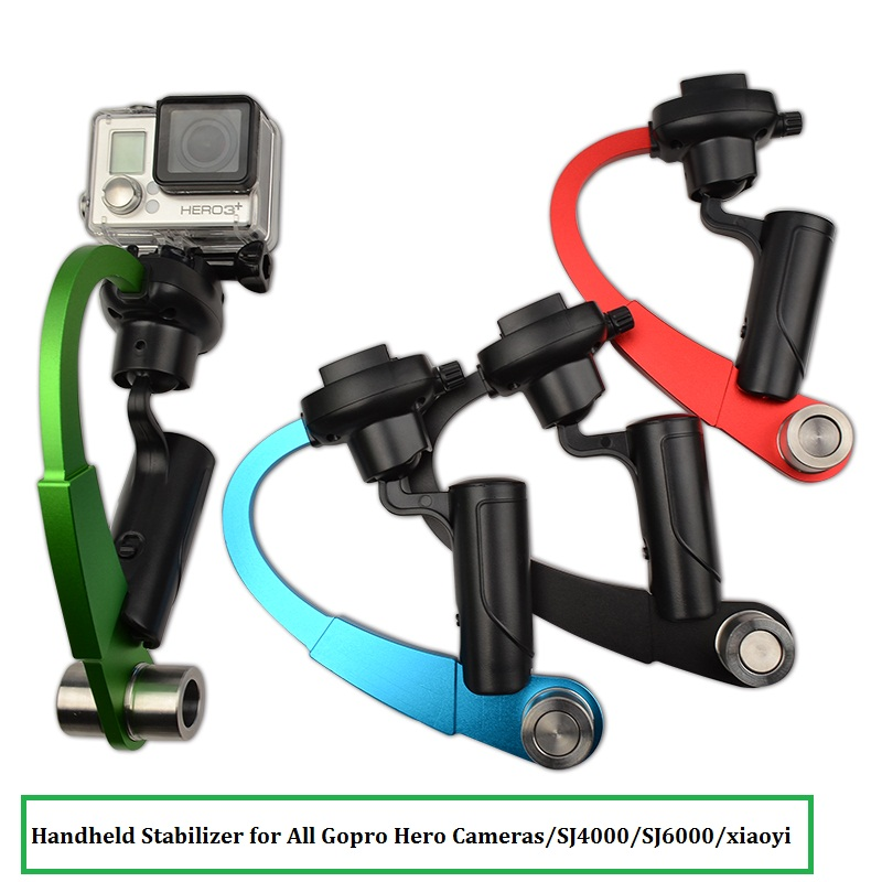 4 Color Aluminum Mini Handheld Video Steadicam Stabilizer For Gopro Hero
