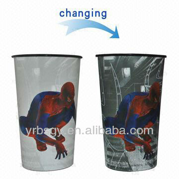 Non-toxic temperature sensitive color changing cup plastic 3D print tumbler