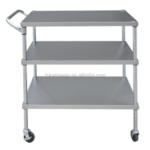 3 tiers stainless steel trolley cart laboratory equipment hand push cart