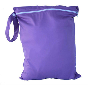 24e84bf2d8 Large Waterproof Reusable Zip Wet Dry Bag for Baby Cloth Diaper Nappy Bag