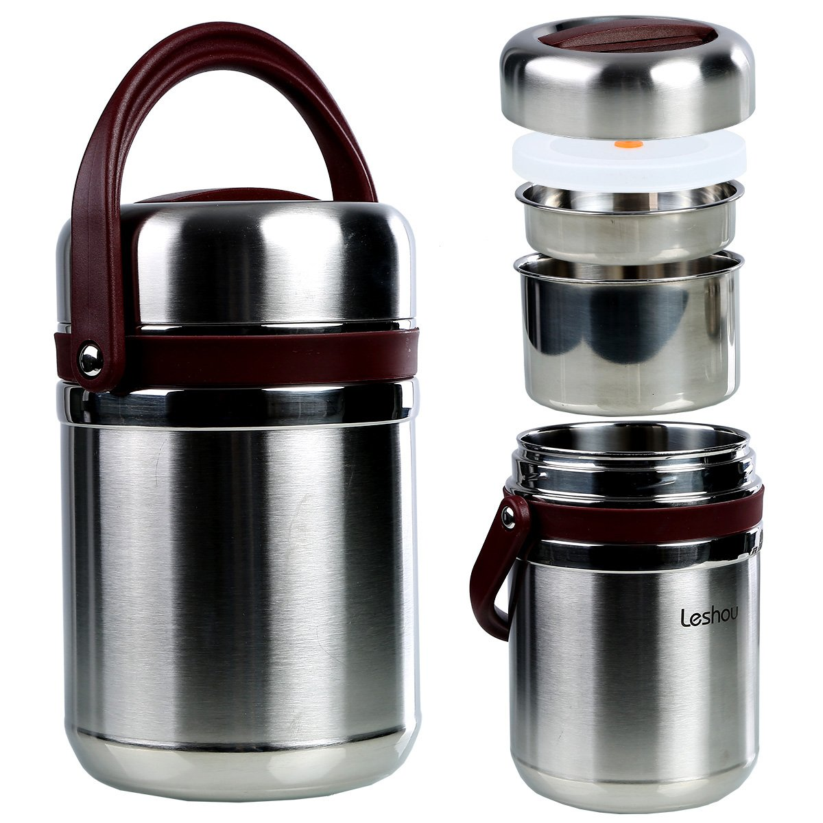 Buy Bento Lunch Box,Stainless Steel lunch Jar, 3 Layers