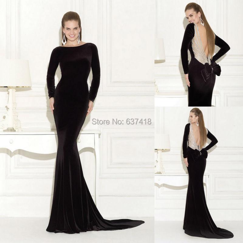 Plain Black Prom Dresses 2015