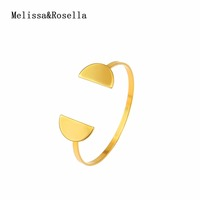 2017 New 18K Gold Plated Jewelry Designs Half Round Open Gold Bangle Charm Bracelet For Women